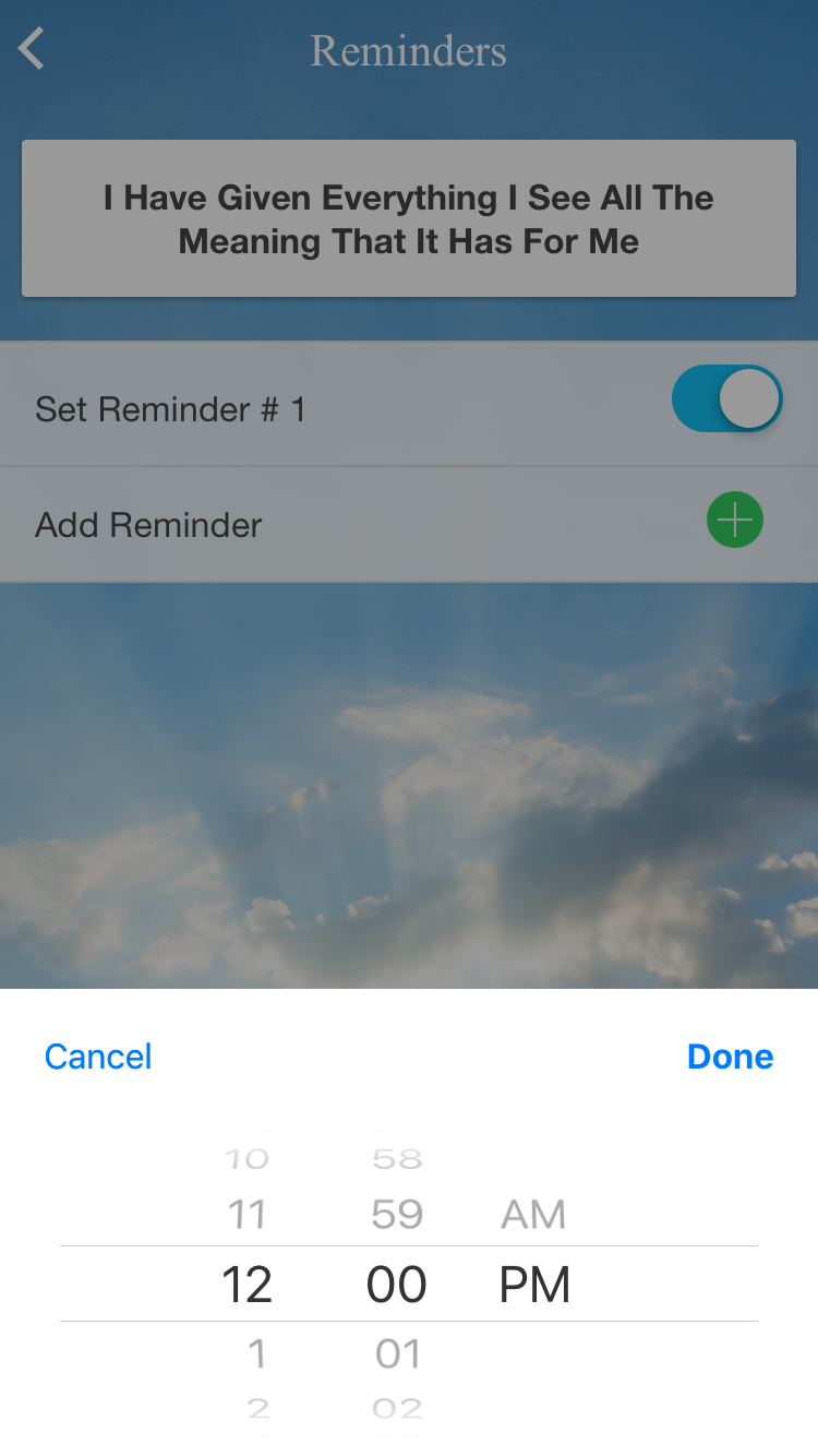 Reminders View